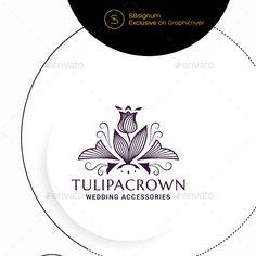 Crown Logo Graphics, Designs & Templates from GraphicRiver (Page Logo Template, Templates, Crown Logo, Eco Green, Coreldraw, Graphic, Wedding Accessories, Logos, Design