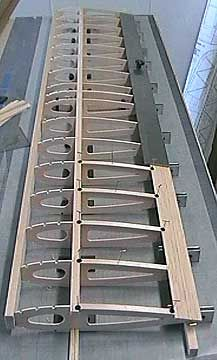A constant chord wing under construction.