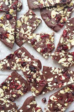 Chocolate Cranberry Bark via MealMakeoverMoms.com/kitchen