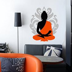4e9ef0642f0 Buy Decor Kafe Meditating Buddha Wall Sticker Standard Size - 66Cm X 53Cm  Color - Multicolor Online at Low Prices in India - Amazon.in