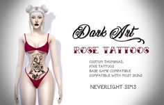 Sims 4 CC's - The Best: Tattoos by neverlightsims