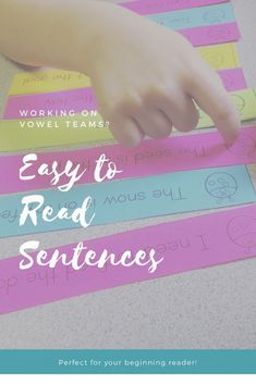Vowel Teams Sentence Practice This phonics game is perfect for centers, intervention, or guided reading! Phonics Games, Phonics Centers, Spelling Activities, Alphabet Activities, Word Games, Preschool Worksheets, Reading Fluency, Teaching Reading, Guided Reading