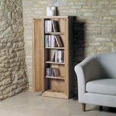 baumhaus mobel oak two door dvd storage cupboard cor17b