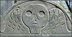 18th century - a very traditional winged death head on the head stone of Mr. Joseph Selman d. 11/18/1761.