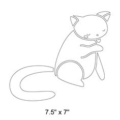Cat Wall Stencil for Kids Pet Mural or Animal Themed Baby Nursery Simple Embroidery Designs, Applique Designs, Embroidery Patterns, Baby Painting, Fabric Painting, Painting & Drawing, Stencils For Kids, Quiet Book Templates, Sponge Painting