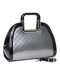 Take a look at this Platinum Pandora Diamond Satchel by Bravo Handbags on #zulily today!