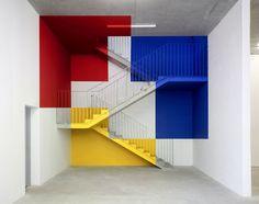 Arte e Arquitetura: Decomposição da Geometria/ Intervenções de Felice Varini