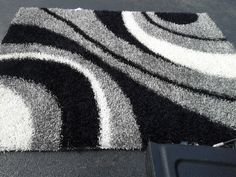 modern black and gray area straw rugs with sophisticated pattern for living room ideas
