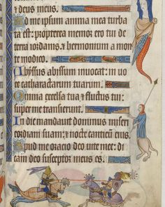 Richard the Lionheart died #onthisday in 1199. Here he is, rather splendidly adorned, jousting in the lower margin of the Luttrell Psalter.  This colourful miniature shows two caparisoned knights which are generally believed to be Richard I and Saladin. The Luttrell Psalter, commissioned by a wealthy landowner in the first half of the 14th century, is one of the most striking manuscripts to survive from the Middle Ages.