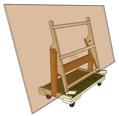 The shop helper will help to alleviate that problem. Just load the sheet good onto the rolling cart from your vehicle and wheel it to your tablesaw Woodworking Basics, Woodworking Workshop, Woodworking Projects Diy, Welding Projects, Woodworking Bench, Diy Projects, Lumber Storage, Tool Storage, Garage Storage