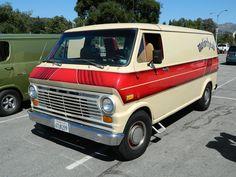 """Motörhead"" custom 70's Ford van"