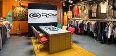 extreme sports raw state   showroom interior by Rick Roering, via Behance