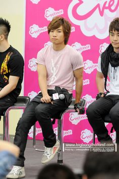Daesung from Big Bang - Look at those ARMS!! ;] He doesn't look too bad in pink, either. hehe