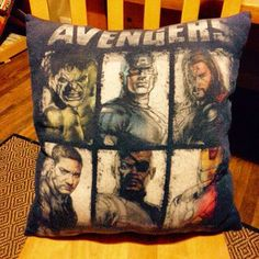 Avengers pillow by PerfectlyPlumpy on Etsy