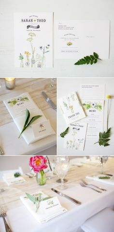Lana's shop -botanical invitations and styling