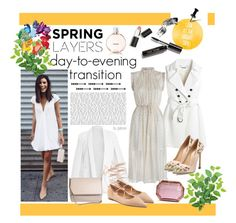 """""""Spring Day to Night"""" by gabree ❤ liked on Polyvore featuring Sigma Beauty, White House Black Market, Michael Kors, Giambattista Valli, Givenchy, Charlotte Olympia, Bobbi Brown Cosmetics and Chanel"""