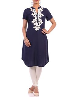 Shop Blue Modal Straight Tunic online at Biba.in - SOLIDASSORTED(I)10722BLU