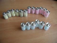 Artes em Miniatura: Potes de Algodao