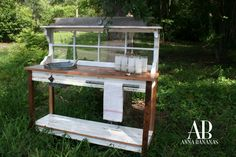 Salvaged windows http://www.anna-bananas.com/Furniture_Gallery.php
