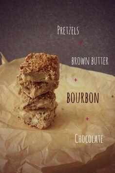 Bakergirl: Pretzel-Crusted Brown Butter Bourbon Blondies.