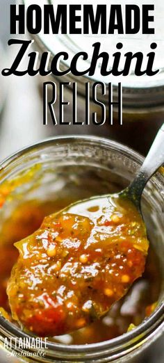 This zucchini relish recipe is sweet and somewhat tangy.It makes a great hamburger relish, but it's great for adding extra flavor to things like egg salad, deviled eggs, potato salad, and even mixed into meatloaf.Zucchini relish is a great way to preserve summer squash for the winter pantry. #canning #preservation #recipe Zucchini Relish Recipes, Canning Zucchini, Zuchinni Recipes, Veggie Recipes, Dinner Recipes, Healthy Recipes, Canning Squash, Easy Squash Relish Recipe, Squash Relish Canning Recipe