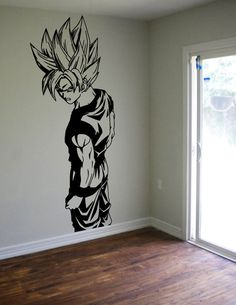 Dragon Ball Z Goku Wall Decal Sticker Vinyl Decor Kids Room Boys Wall Art DBZ Geek Gamer Anime Gift Gifts