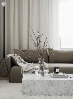 Modern Home Decor Beautiful living room with white curtains beige sofa and extra-ordinary coffee table.Modern Home Decor Beautiful living room with white curtains beige sofa and extra-ordinary coffee table Living Room Interior, Home Living Room, Home Interior Design, Living Room Designs, Living Room Decor, Beige Sofa Living Room, Modern Interior, Beige And White Living Room, Beige Couch