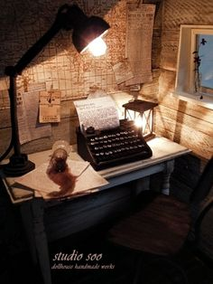 Miniature Writer's room with a map on the wall.  Might be possible if we borrow a couple of metres from the garage.