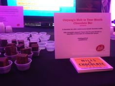 """Voters at the #AskSugarRush got to try treats like the """"Owyang's Melt In Your Mouth Brownie Bar"""" - tasty!"""