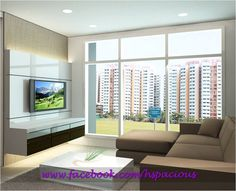 Is it possible to have a full length window in hdb flats? Dining Area Design, Living Spaces, Living Room, Blinds, Console, Room Ideas, Design Inspiration, Windows, Interiors