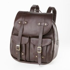 Clava Leather Rucksack Backpack by Brookstone - Found on HeartThis.com @HeartThis