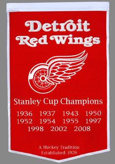 Detroit Red Wings 11 time stanley cup champions