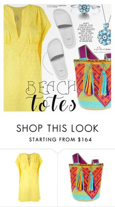 """Beach Totes"" by totwoo ❤ liked on Polyvore featuring Blue Man, Melissa and Folio"