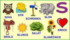 ABECEDA PÍSMENO S Baby List, Alphabet, Preschool, Education, Reading, Logos, Montessori, Languages, Autism
