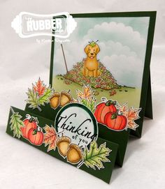 Have you seen this adorable stamp set in The Rubber Cafe store yet?   It's called  Leafy Fun Labrador!    In addition to that adorable La...