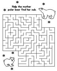 polar bears activities for kids | ... the page of your choice. Have the children find their way through
