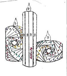 Iris Folding Templates & Inspirations - Aga Piechocińska - Picasa Web Albums candles