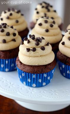Chocolate Cookie Dough Cupcakes - Your Cup of Cake
