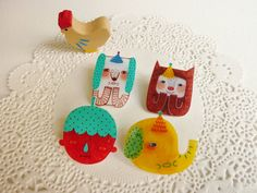 New Shrink Plastic Brooches