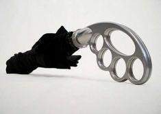 Brass-Knuckle Umbrella
