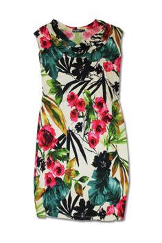 Tropical Garden Cowl Dress