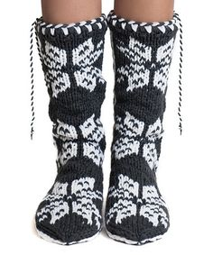 Another great find on #zulily! Flannel Snowflake Mukluk Slippers #zulilyfinds