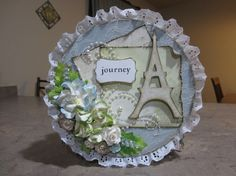 Shabby Chic Paris Altered Paper Mache Box - Designer: Misty Busby