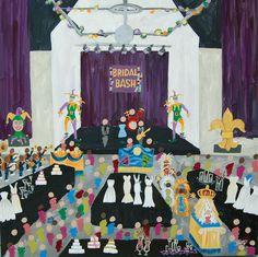 Live Event Painting | Color Me Nola  | Kristy Oustalet | Weddings | New Orleans | Baton Rouge | Bridal Bash