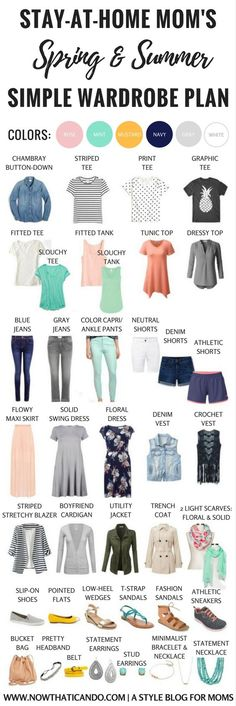 Basic Spring/Summer Capsule Wardrobe (86+ Outfits) for Stay-at-Home Moms - PLUS 3 WINNER GIVEAWAY!