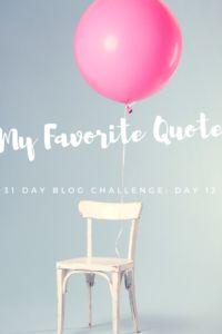 31 Day Blog Challenge--Day 13