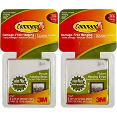 Command 3M 12ct Pack Picture  Frame Hanging Strips Sets Medium Size White DamageFree >>> For more information, visit image link.