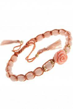 salib I knotted cord moonstone #bracelet I NEW ONE #maya #collection I NEWONE-SHOP.COM