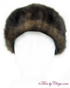 "Ranch Mink Hat RMH770; $100.00; Excellent Condition; Size: Inner circumference: 21-1/4"" (small). This is a beautiful genuine natural ranch mink fur hat. It has a Rene Michael label and the lining is solid black with NO MONOGRAM. It will keep you toasty warm as well as in fashion! fursbychrys.com"