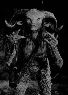 """"""" The Faun """" Played By: Doug Jones Film: Pan's Labyrinth Year: 2006 Fantasy Fiction, Fantasy Art, Photographie Portrait Inspiration, Grunge, Dark Pictures, Crazy Outfits, Satyr, Arte Horror, Film Stills"""